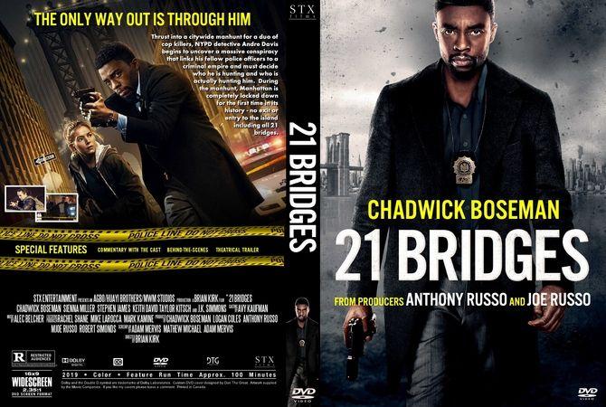 21 Bridges 2019 Dvd Custom Cover Movie Covers Dvd Cover Design Custom Dvd