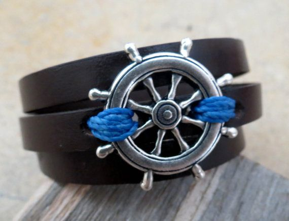 Cody Silver Men's Bracelet Men Nautical Bracelet by Galismens