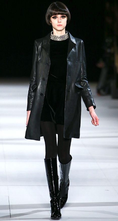Saint Laurent Fall 2014  ... love the '60's feel to this outfit !!!!