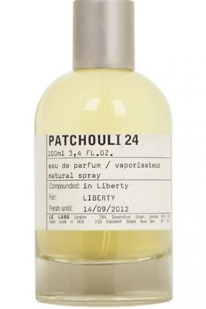 Patchouli 24 by Le Labo is a Woody Chypre fragrance for women and men. Patchouli 24 was launched in 2006. The nose behind this fragrance is Annick Menardo. Top note is patchouli; middle notes are birch and styrax; base note is vanilla.