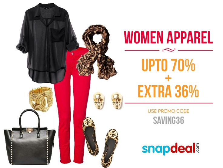 Snapdeal Super Bumper Fashion Sale: Upto 70% and Extra 36% on Apparel. Click to buy: http://www.grabon.in/coupon-codes/?cid=3504  #Snapdeal #FashionApparel #Coupons #Shopping