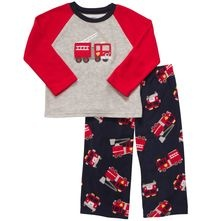 Fire truck pajamas. I don't often buy brand new pajamas, but these are supercute!