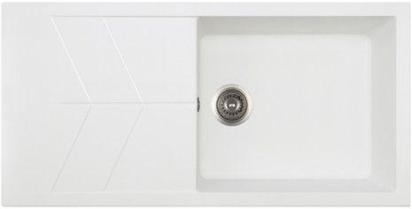 JAZZ Hansloren zlewozmywak 1-komorowy z ociekaczem 500x1000x220 mm biały - JABO-1WMD http://www.hansloren.pl/Zlewozmywaki-granitowe/Zlewozmywaki-1-komorowe/HANSLOREN
