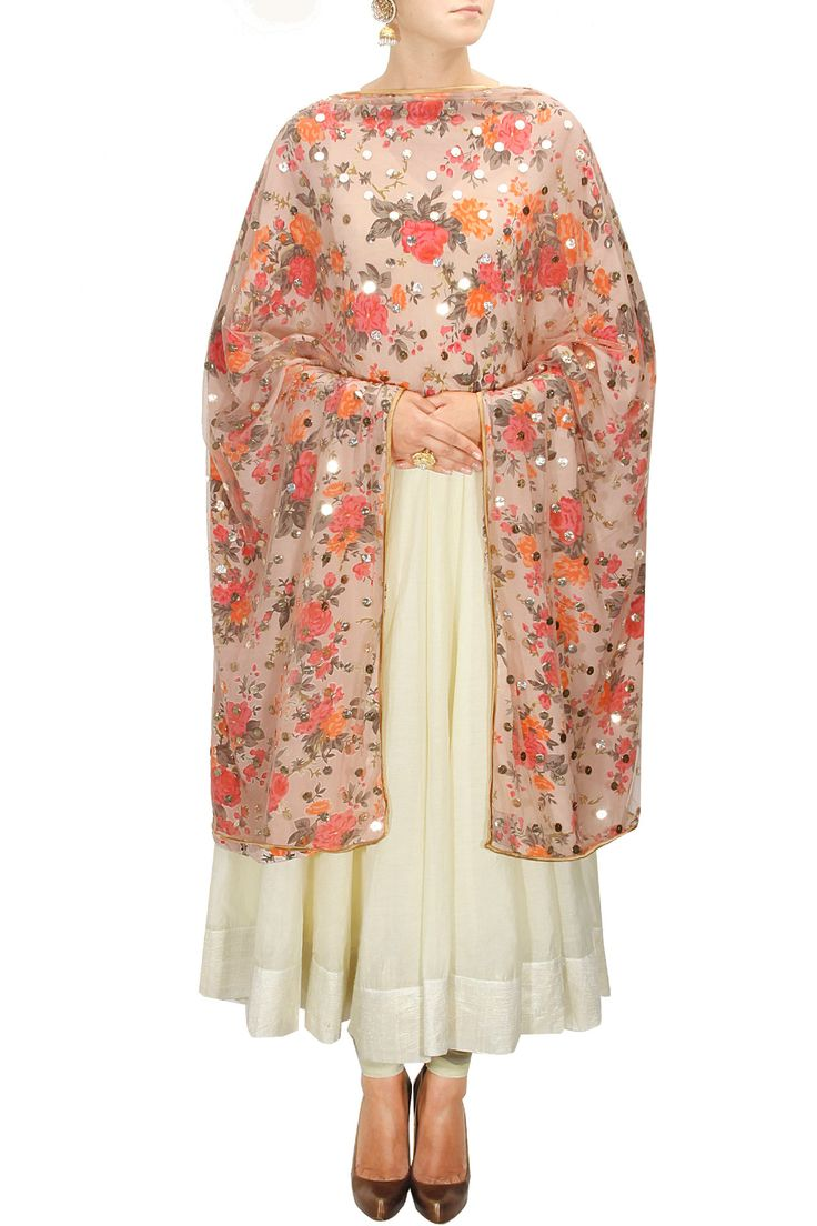 Pretty dupattas paired with plain suits can give you lots of different outfits.