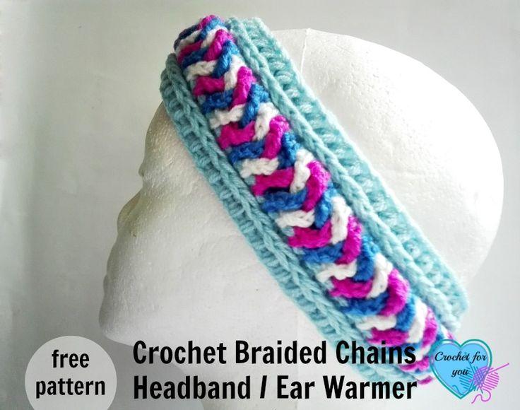Free Crochet Braided Ear Warmer Pattern : 1000+ ideas about Chain Headband on Pinterest Hair ...