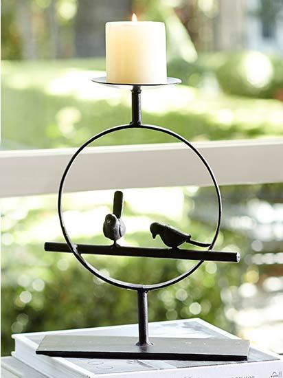 Iron Candle Holder Inspired By Nature Pottery Barn