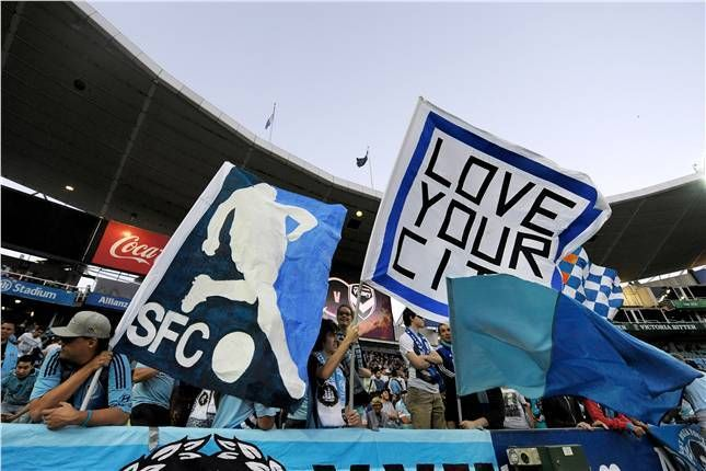 Sydney FC fans get ready for the first Big Blue of the year against Melbourne Victory in Rd5.
