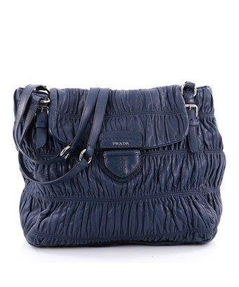 b7af2fb121 PRADA PRE-OWNED  BUCKLE STRAP SHOULDER BAG NAPPA GAUFRE LARGE.  prada  bags   shoulder bags