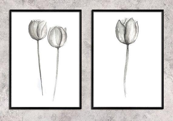 tulips  tulip   flower   Watercolor Art Print  Wall by ArtCCarol
