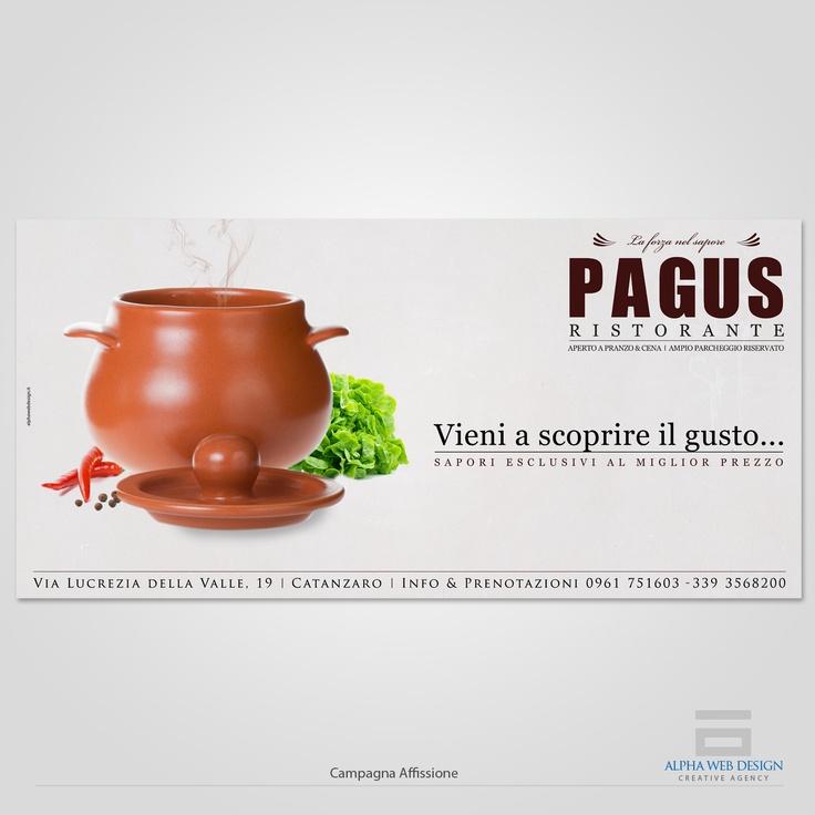 """In occasione della nuova apertura, il cliente """"Ristorante Pagus"""" sceglie Alpha Web Design per la progettazione e la pianificazione della campagna pubblicitaria e per la realizzazione dell' immagine coordinata...."""