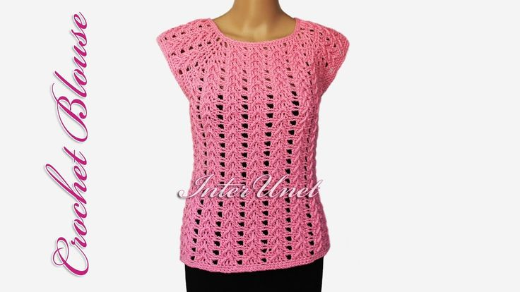 Lace top - crochet pink blouse - YouTube