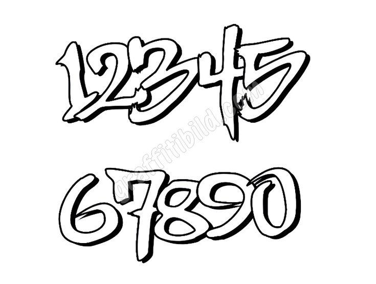 graffiti numbers font 09  graffiti zahlen graffiti