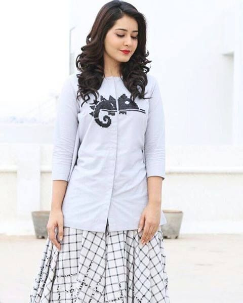 Hot Photoshoot Of Rashi Khanna In White Dress