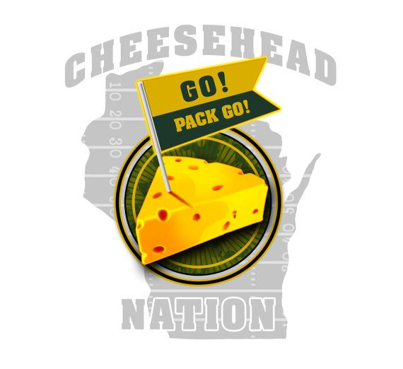 Green Bay Packer Cheesehead Nation Shirt   by FunhouseTshirts, $14.99