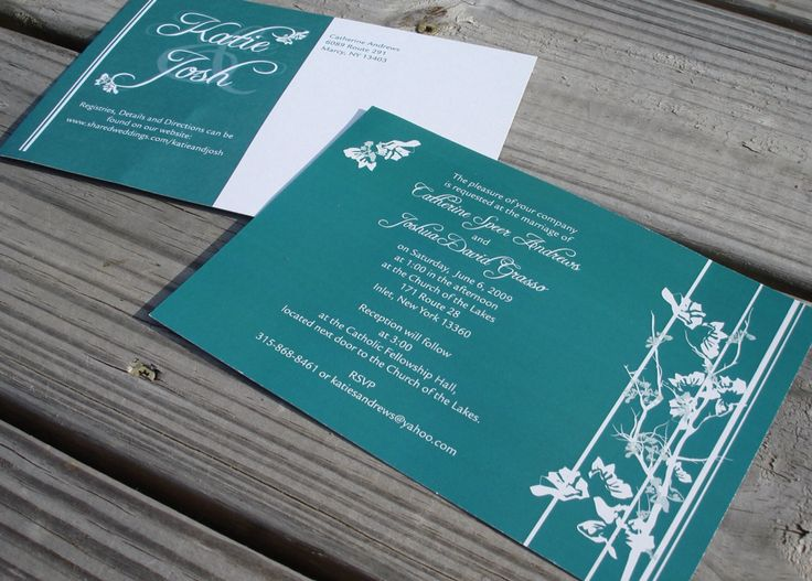 19 best invitation card images on pinterest invitation cards teal and white wedding invitation stopboris Gallery