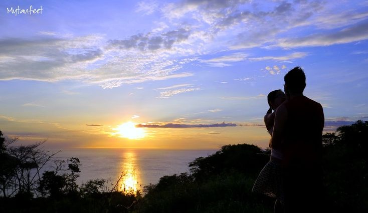 romantic destinations in costa rica - view of Playas del Coco and Gulf of Papagayo from top of a hill