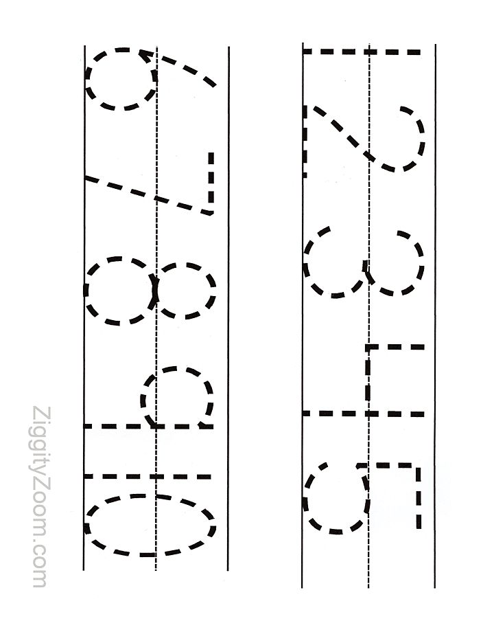 printable numbers tracing worksheet for preschool