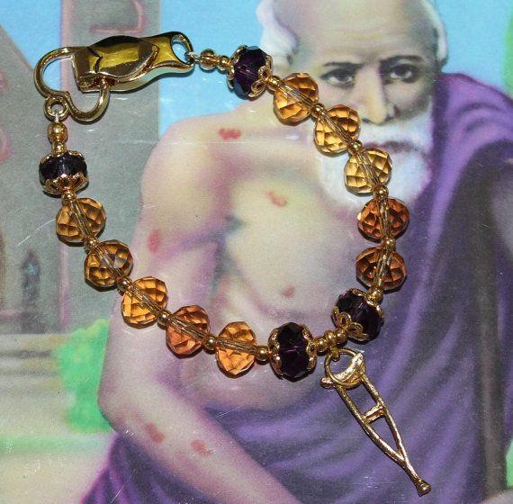 San Lazaro  Babalu Aye  Crystal modern  Bracelet by ModernOrisha