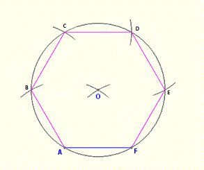 how to draw a hexagon using a protractor