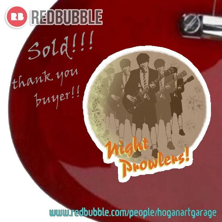 Sold!!! 😊...thanks to the person in BARBERÀ DEL VALLÈS, España 🇪🇸who just bought this 'Night Prowlers' sticker from my Redbubble webshop!! And thanks for the kind bubblemail, 'glad you like it!  ___________________________________    #redbubble #thanks #gracias #lead #leader #leadguitar #acdc #musiclover #acdcfan #angusyoung #popart #guitar #guitarist #sticker #instasticker #rock #music #instarock #backinblack #nightprowler #instametal #rocklegend #rockicon #redbu