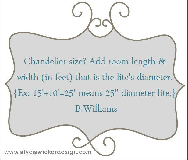 Thinking of a chandelier over your kitchen island? Here's a rule of thumb on what size to consider from @BunnyWilliamsHome