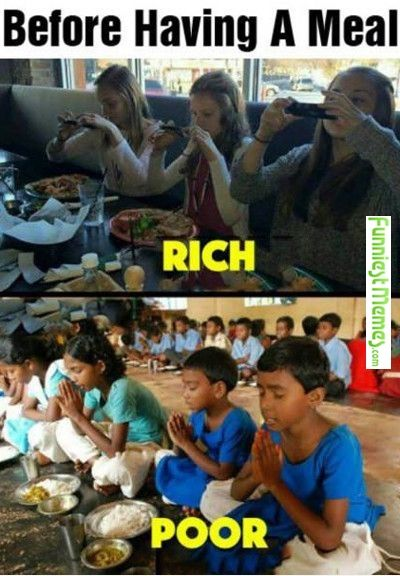 Remember to count your blessings. A cell phone at 10 is not rich, it is lazy parenting!! Ohhh and by the way...No ONE cares what the hell you had for lunch!!