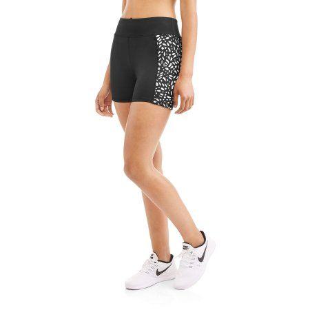 Women's Active Performance Bike Shorts With Contrast Lasercut Detail, Size: Medium, White