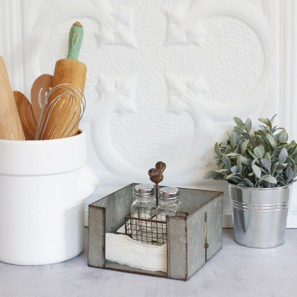 Place our Galvanized Metal Napkin Holder in your kitchen and its beautiful industrial look will bring so much character to your home! For more paper towel holders please visit, www.decorsteals.com OR www.facebook.com