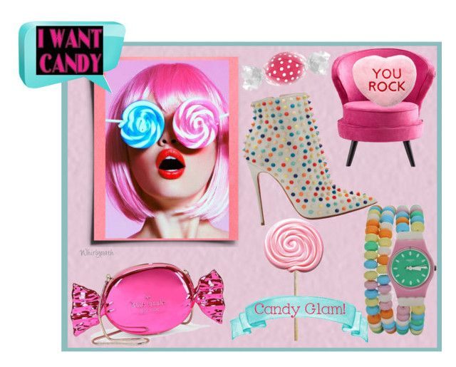 I Want Candy! by whirlypath on Polyvore featuring Kate Spade, Cyan Design, claire's and Christian Louboutin