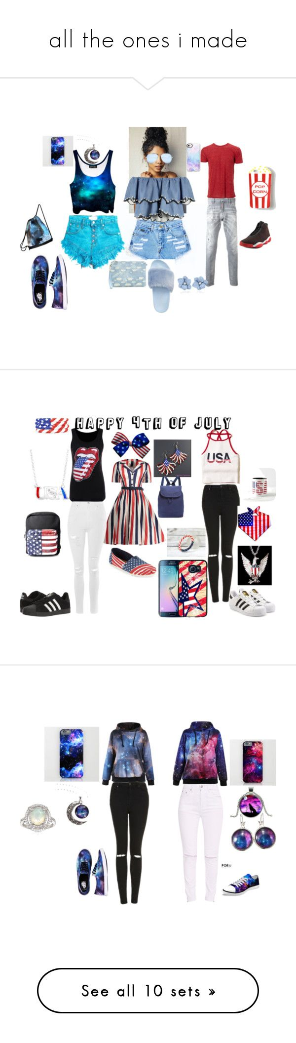 """""""all the ones i made"""" by jellybean14-1 ❤ liked on Polyvore featuring Simplex Apparel, Dsquared2, Jordan Brand, Steve Madden, Vans, Casetify, HUISHAN ZHANG, GUESS, Hollister Co. and Topshop"""
