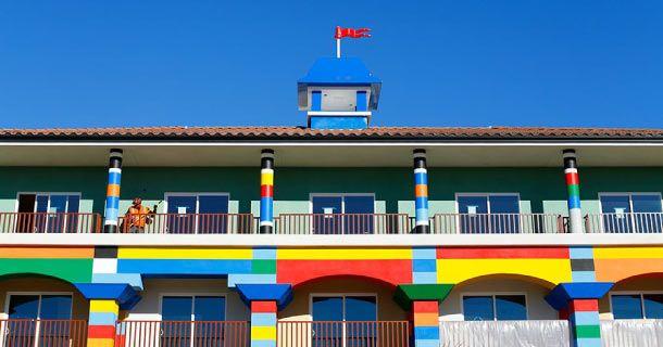 Dormir dans un hôtel en Lego -  Legoland California Resort Hotel à Carlsbad Californie aux Etats Unis