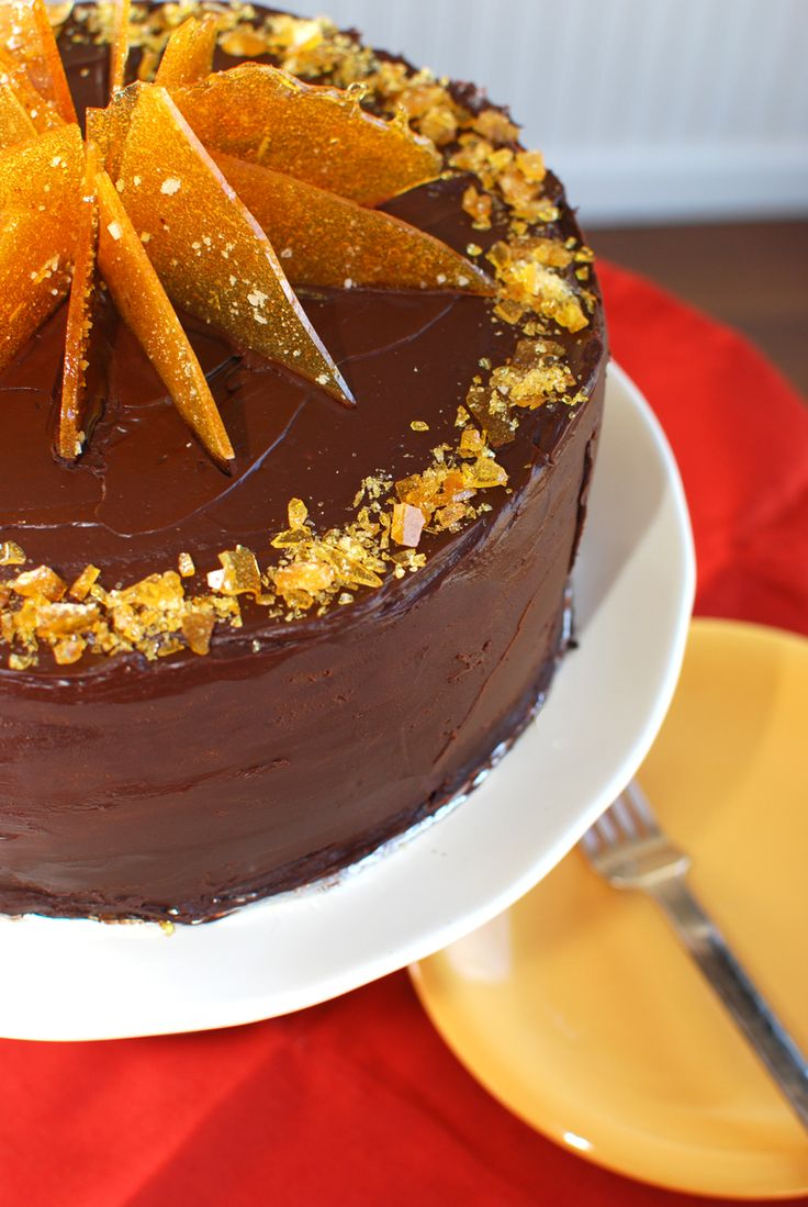 Chocolate Cake with Salted Caramel and Fleur de Sel Praline — Former Chef