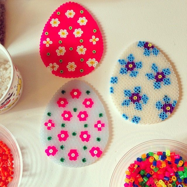 Easter eggs hama beads by granplumley