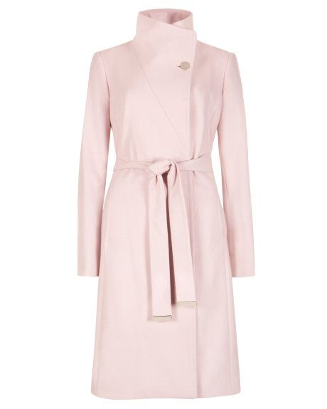 Last 3 days to join pinpoinTED and win a $800 shopping spree for you and a friend at http://www.tedbaker.com/pinpointed/ || Belted wrap coat - Pale Pink | Jackets & Coats | Ted Baker