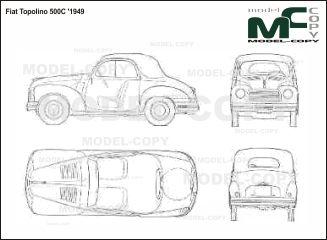 Mejores 345 imgenes de fiat blueprints en pinterest fiat topolino 500c 1949 blueprints ai cdr cdw dwg malvernweather Gallery