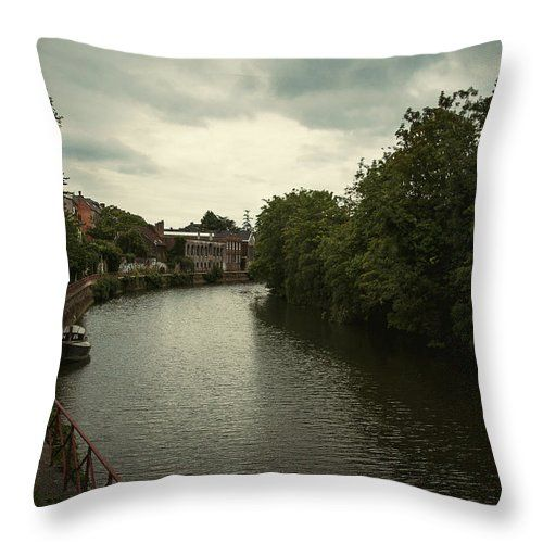 Travel Throw Pillow featuring the photograph Pictures Of Ghent by Elena Ivanova IvEA  #ElenaIvanovaIvEAFineArtDesign #Design #Pillow #Cushiоn #HomeDecor #Gift