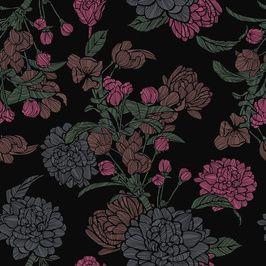 Dark Etched Flowers