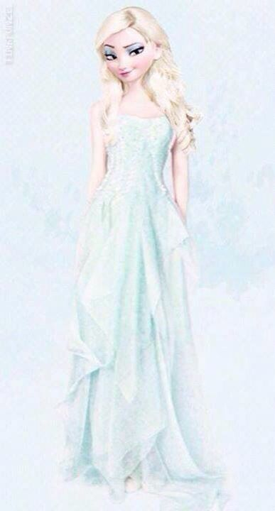Elsa all ready for her date. With Jack Frost ;)