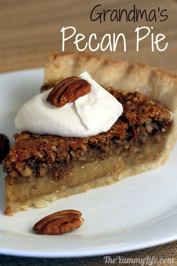 Grandma's Pecan Pie. A simple, classic recipe. www.theyummylife.com/Pecan_Pie