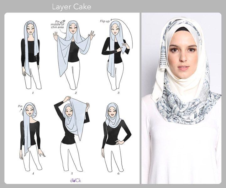 Layers | Layer Cake hijab tutorial by duckscarves.