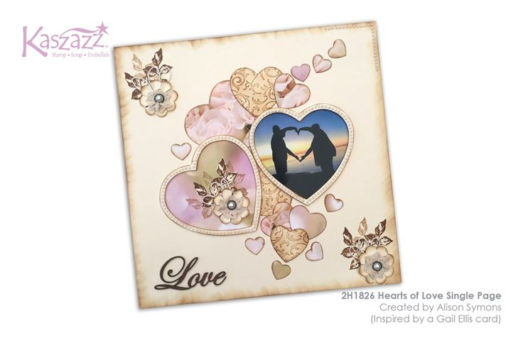 2H1826 Hearts of Love Single Page