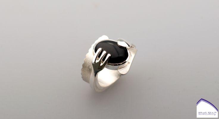 what-els-zilver-onyx-vork-lepel-mes-ring1