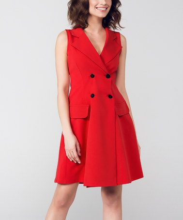 Another great find on #zulily! Red A-Line Dress #zulilyfinds