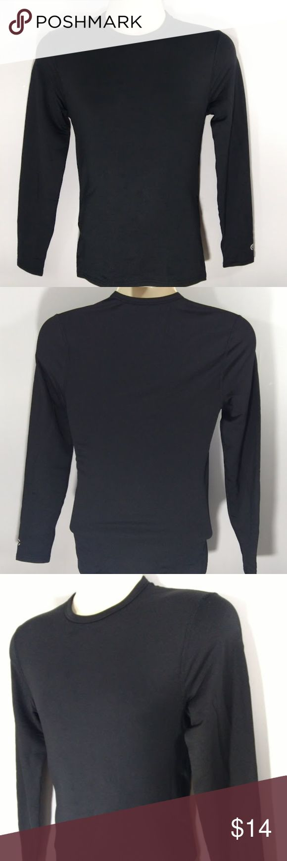 NWOT Size Small Long Sleeve Black Top (blq9) Champion Performance Base Layer Men's Size Small Long Sleeve Black. Stay warm in the cold  Size: Small Worn: Never Condition: Pristine Stains:x Holes:x Rips:x Fading:  x  Color may vary slightly from photos. Champion Underwear & Socks Undershirts