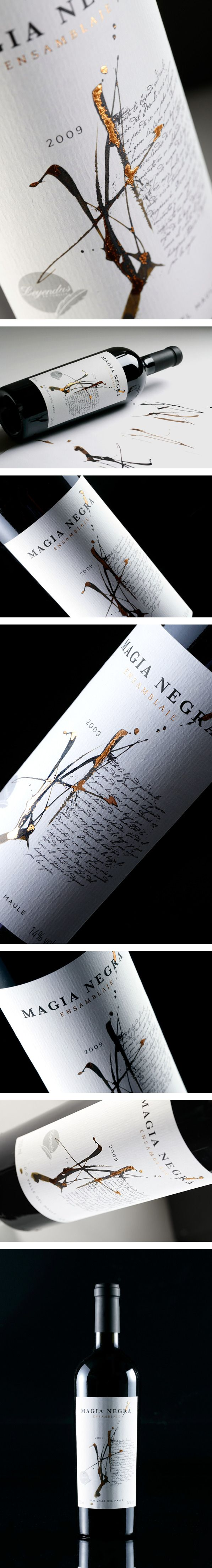 Magia Negra Wine Label by Labdiseño Chile / wine
