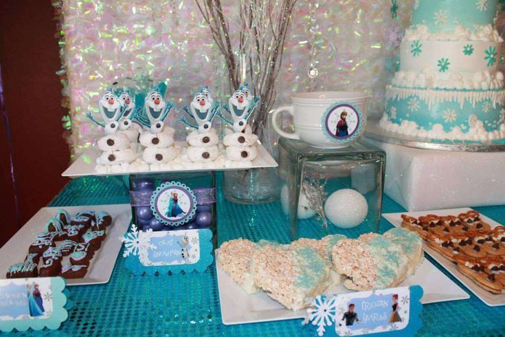 Amazing Frozen party treats! See more party planning ideas at CatchMyParty.com!