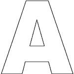 Alphabet Coloring Pages - large letters, upper- and lower-case