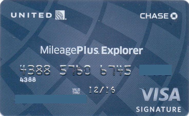 United MileagePluss Explorer (Chase, United States of America) Col:US-VI-0171-2