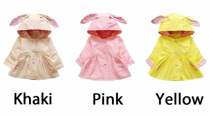 Cool New Spring Autumn Baby Girls Coat Love Rabbit Infant Newborn Jackets Hooded Kids Outerwear Windbreaker For Baby Girls Clothes - $35.31 - Buy it Now!