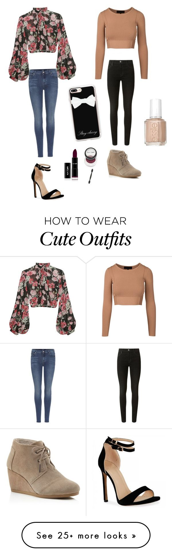 """Cute Thanksgiving Outfits "" by lsantana13 on Polyvore featuring Jill Stuart, 7 For All Mankind, J Brand, TOMS and Casetify"